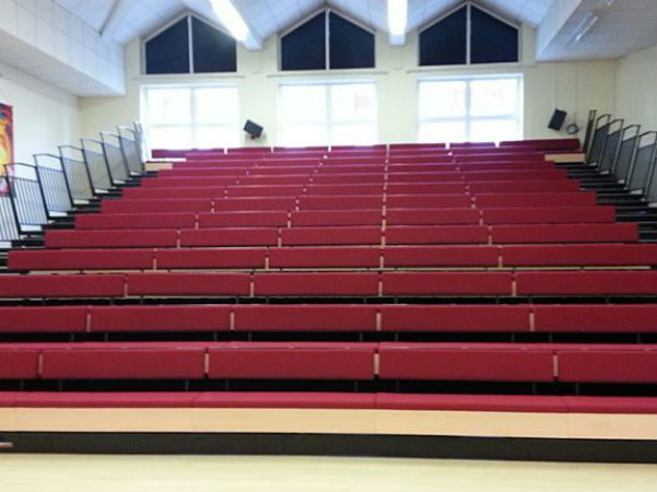 Retractable Seating at New Hall Sports Bench