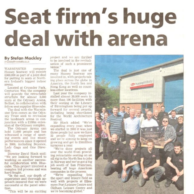 Wiltshire Times Article Retractable Seating Hussey Seatway
