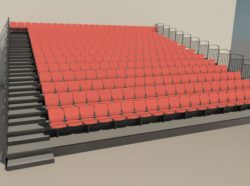 BIM Models Retractable Seating