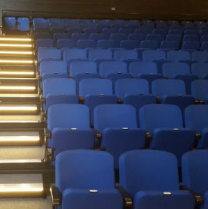 Spotlight Theatre Retractable Seating with lighting