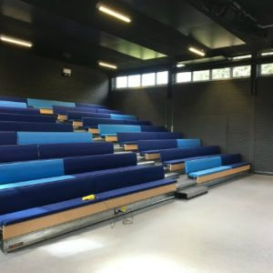 Retractable Seating Hussey Seatway Club Bench and Backrest