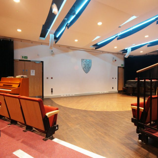 Hussey Seatway Retractable seating at Trevelyan College