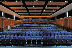 Trinity School Double Row Depth Retractable Seating