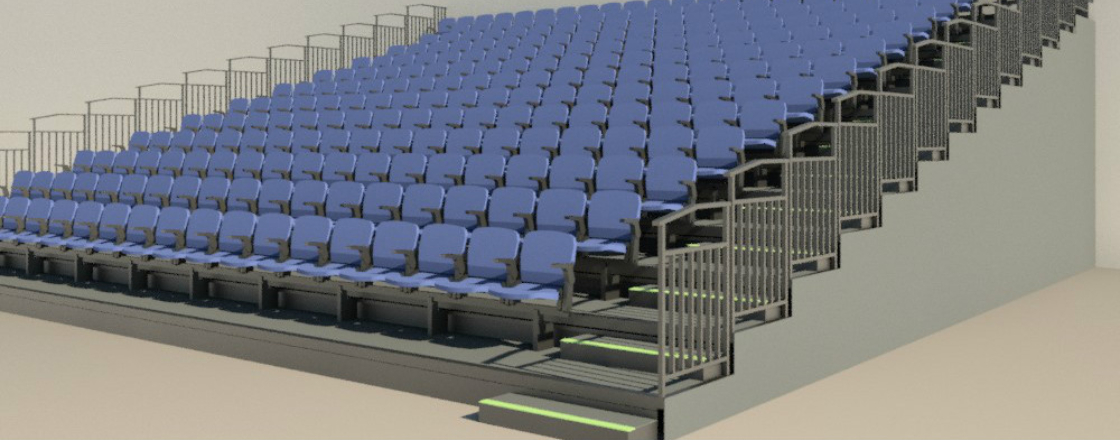 BIM Retractable Seating Hussey Seatway