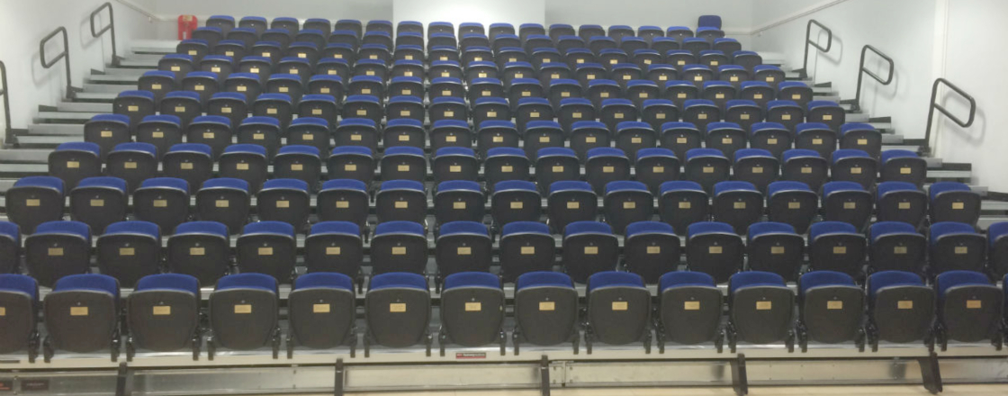 Retractable Seating at St Peters Catholic School by Hussey Seatway