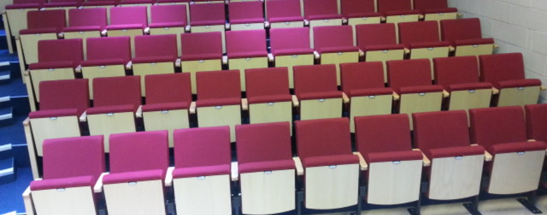 Retractable Seating at Vine Hall by Hussey Seatway