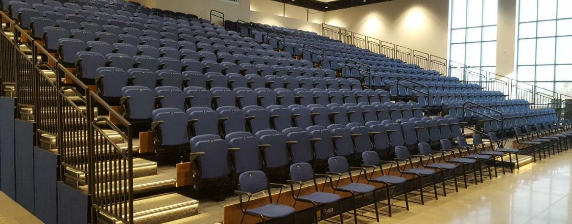 Hussey Seatway Retractable Seating UNC